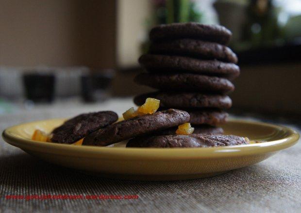 Czekoladowe ciasteczka z czekoladą