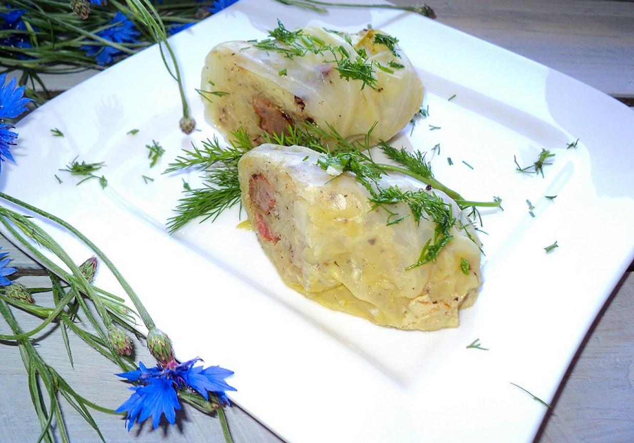 Gołąbki Z Ziemniakami Cebulką I Boczkiem