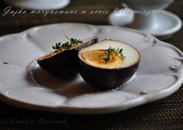 jaja marynowane w occie balsamicznym