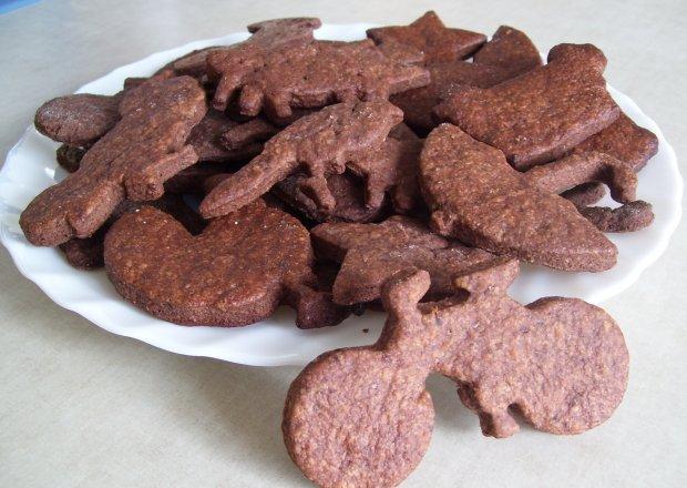 Kruche czekoladowe ciasteczka