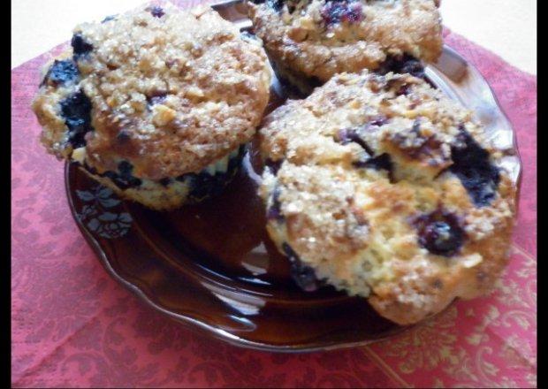 Muffinki borówkowo – orzechowe