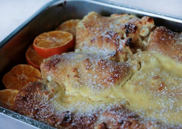 Naleśniki zapiekane z serem pod migdałowo – pomarańczową pierzynką