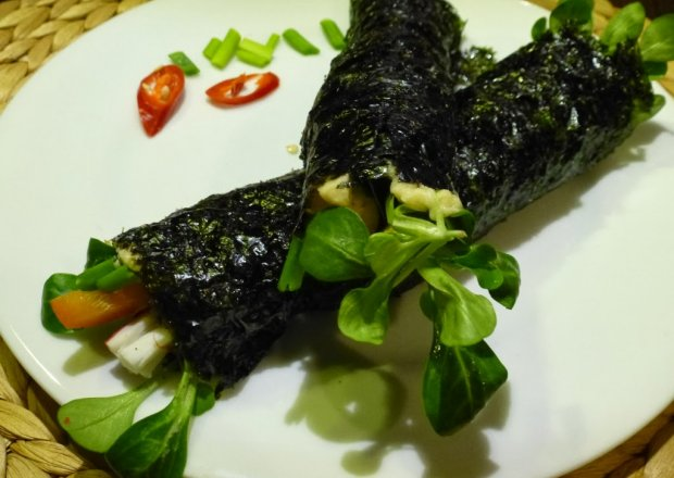 Nori Wrapy z hummusem