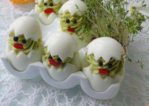 Pisklaki - jajka faszerowane zielonym groszkiem