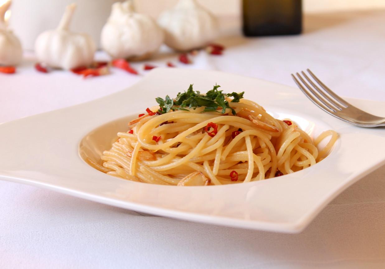 Spaghetti Aglio Olio E Peperoncino Spaghetti Z Czosnkiem Oliwa I Chili Doradcasmaku Pl