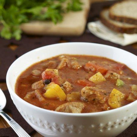 Zupa - gulasz z papryką i pomidorami - Krok po kroku
