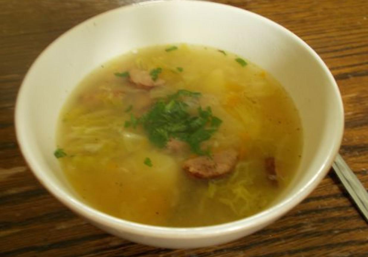 Zupa Z Kapusty Wloskiej I Kielbasy
